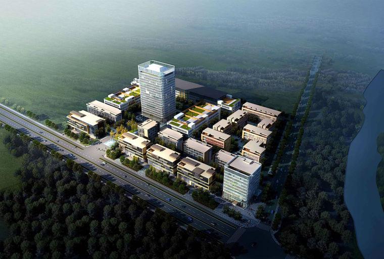 精品科技创业园+办公产业园建筑模型