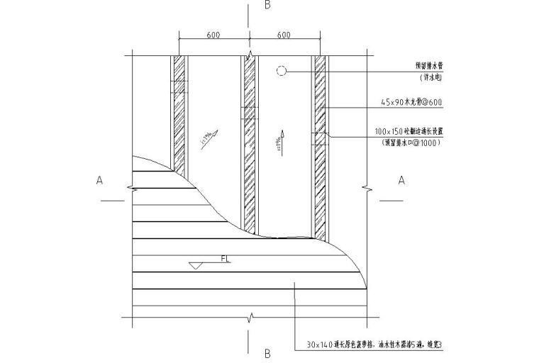 园建标准构造图集|木平台构造详图