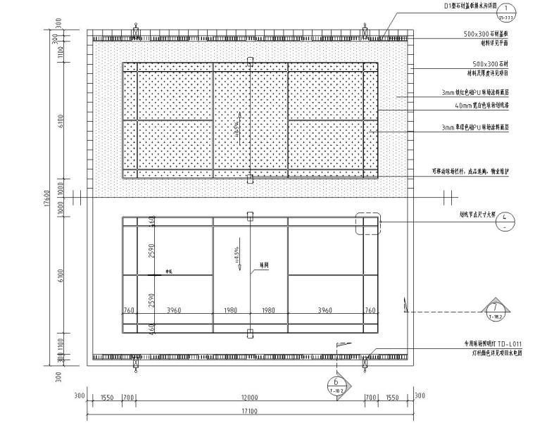 园建标准构造图集|羽毛球场大样图