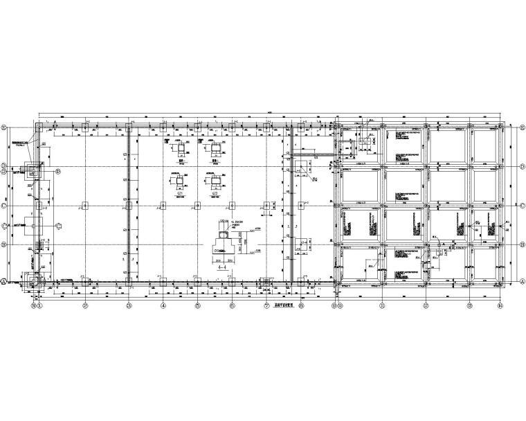 某门式刚架车间与六层办公楼混合结构施工图