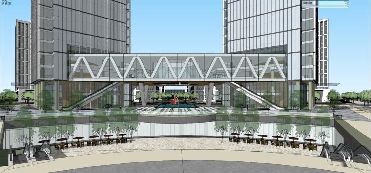 产业园-办公-偏总部建筑模型设计