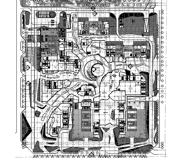 成都和谐广场商业综合体室内装修施工图