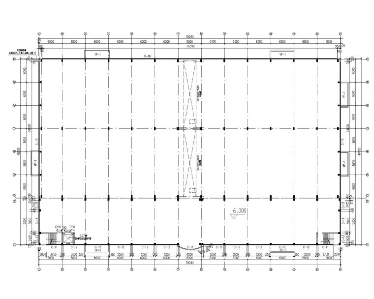 钢结构排架厂房结构施工图(含建筑水电)