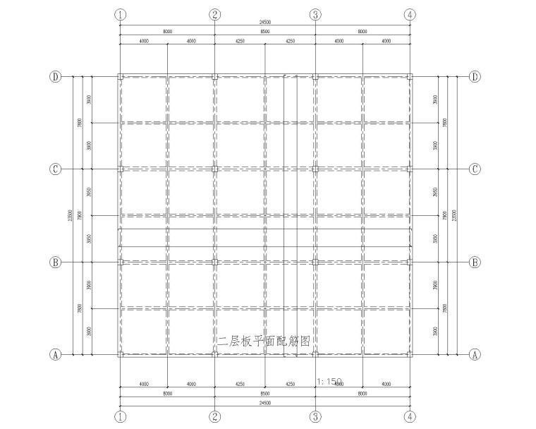 某二层商铺混凝土结构施工图(CAD)