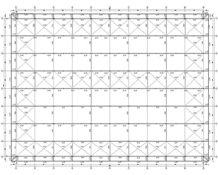 某汽车展厅钢框架门刚结构施工图(CAD)