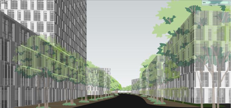 产业园-办公-清华嘉定科技园建筑模型设计