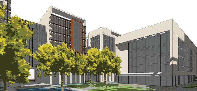 产业园-办公-绿谷广场建筑模型设计