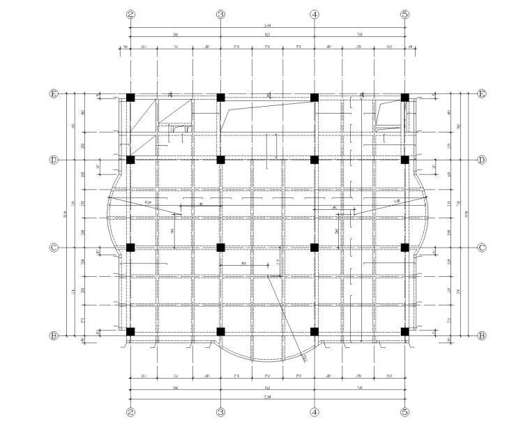 二层楼的施工图资料下载-某9层办公楼混凝土结构施工图(CAD)