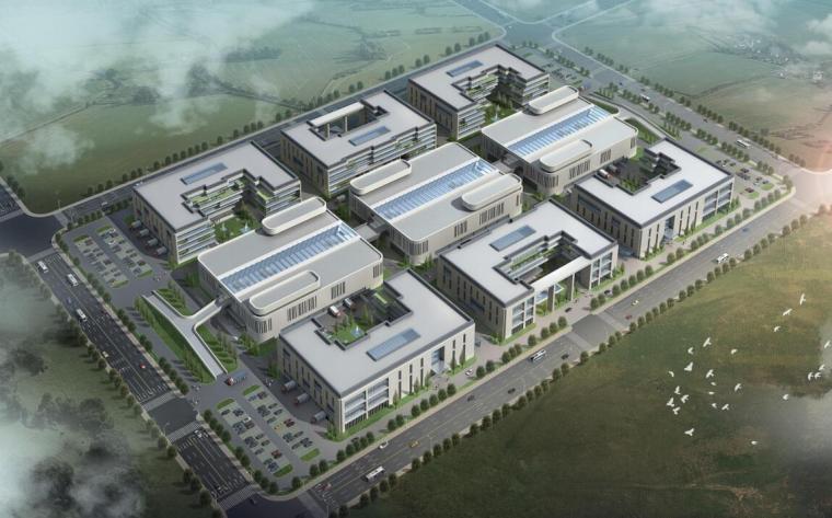[河南]现代风格电子商务办公物流园概念