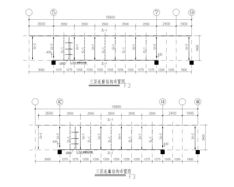 某钢结构连廊含圆环造型结构施工图