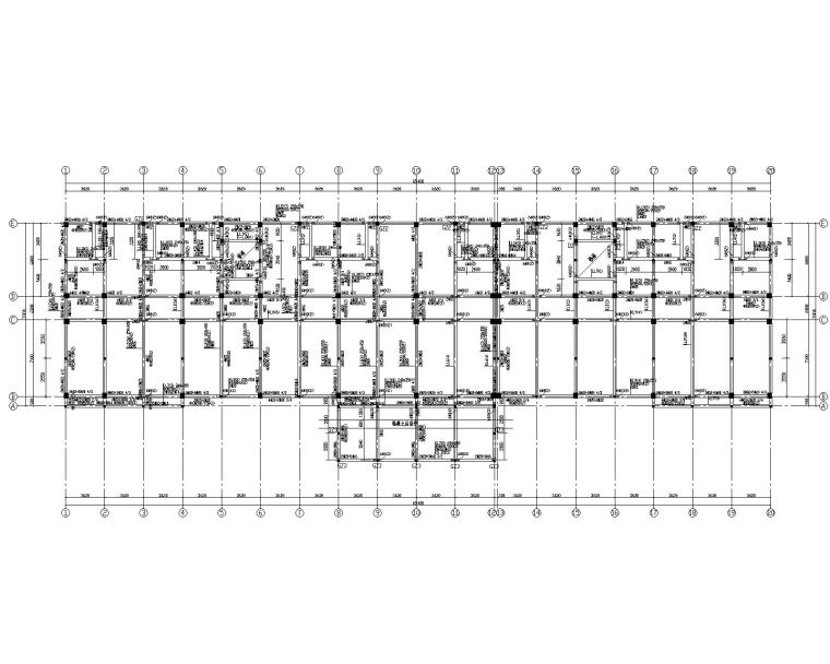 某混凝土框架综合楼结构施工图(CAD)
