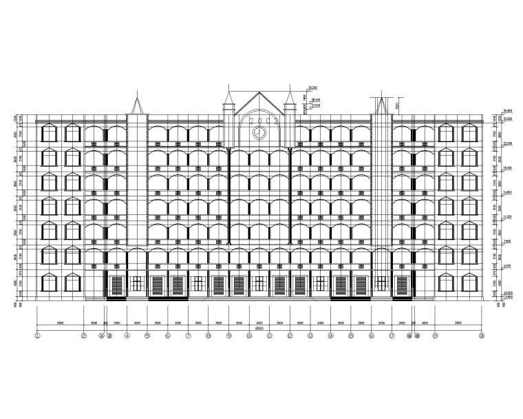 某7层混凝土教学楼结构施工图(CAD含建筑)