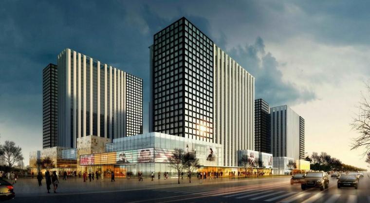潍坊清华总部高科技园区产业园办公建筑模型