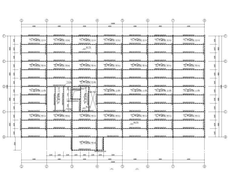 某小高层钢结构饲料车间结构施工图(CAD)