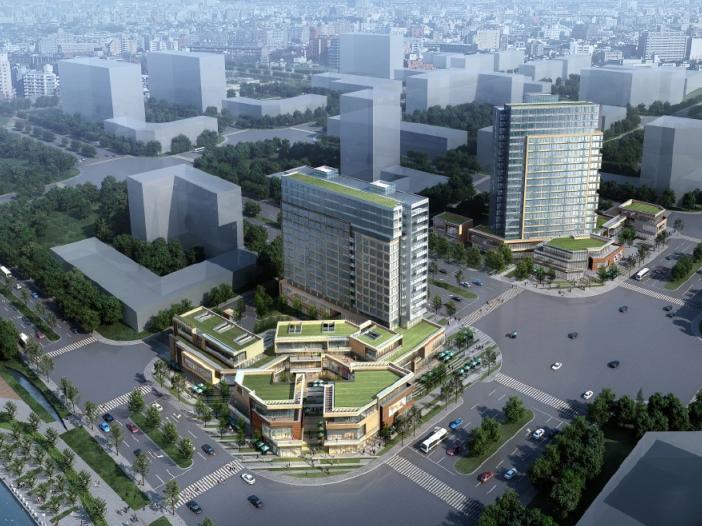 广州珠海滨江汇商业综合体建筑模型设计