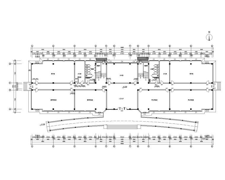 四层中学图书馆混凝土结构施工图(CAD)
