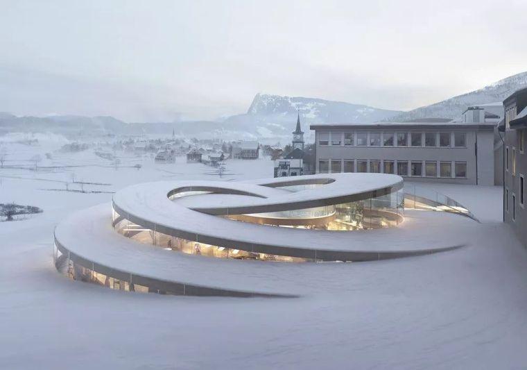 BIG新作'螺旋钟表博物馆',叙事性嵌入地景