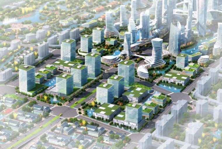 [四川]现代风格工业新城总部概念规划设计