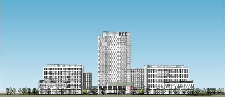 烟台东方电子产业园办公建筑模型设计
