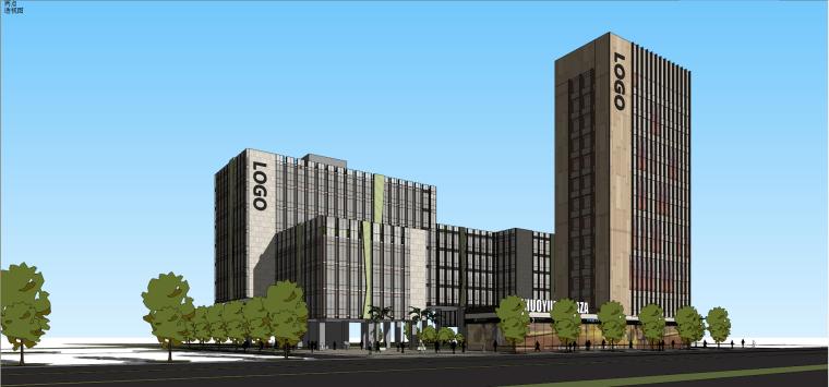 研发办公科技园区产业园建筑模型设计