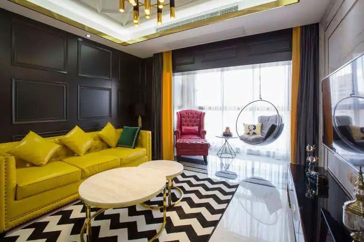 106平现代轻奢风二居室,时尚客餐厅超酷_4