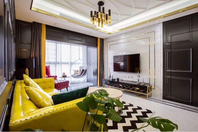 106平现代轻奢风二居室,时尚客餐厅超酷_3