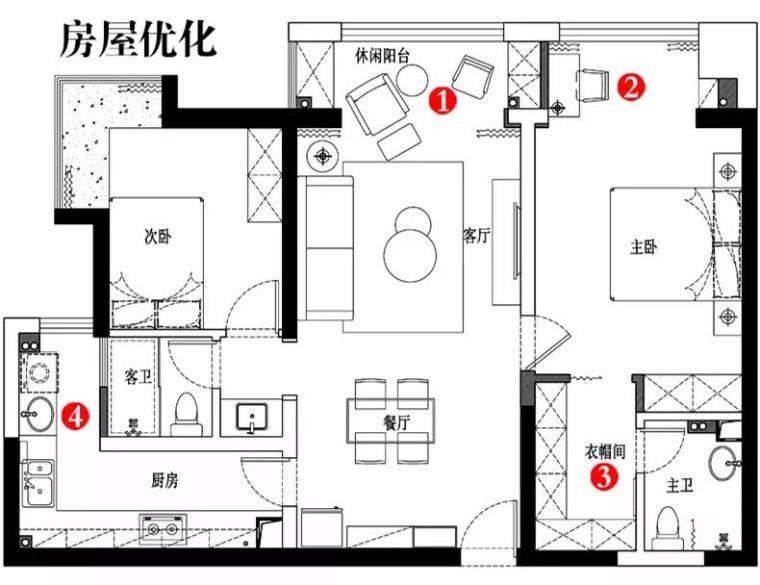 106平现代轻奢风二居室,时尚客餐厅超酷_10