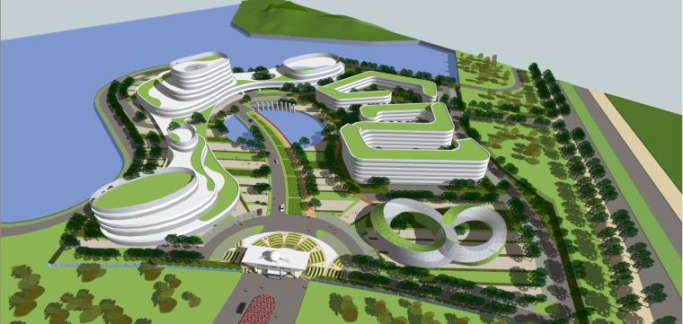 產業園-規劃-玖龍紙業園區工廠建筑模型設計