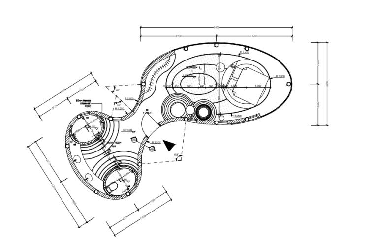 昆明世博園提升體驗項目-樹屋內裝施工圖