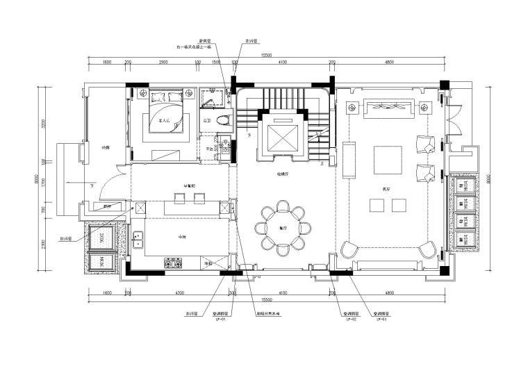 [重庆]金辉城联排别墅样板房施工图+效果图
