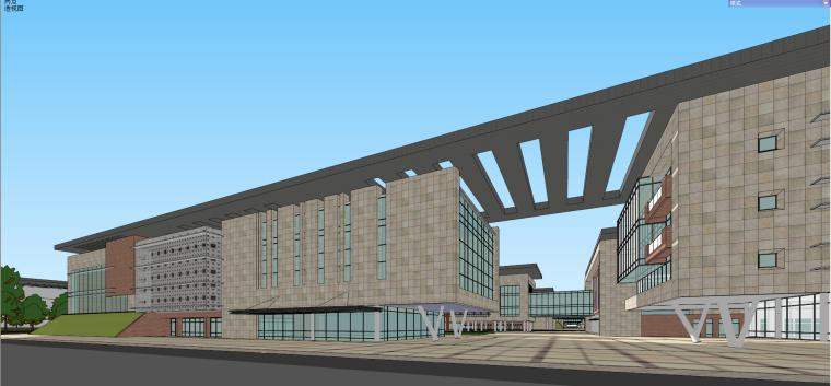 產業園-產業園規劃建筑模型