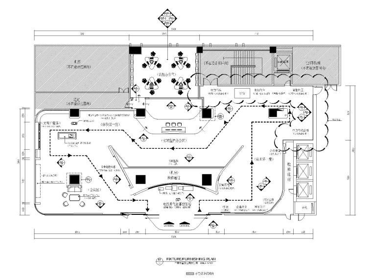 [广州]某供电局客户服务中心创意展厅施工图