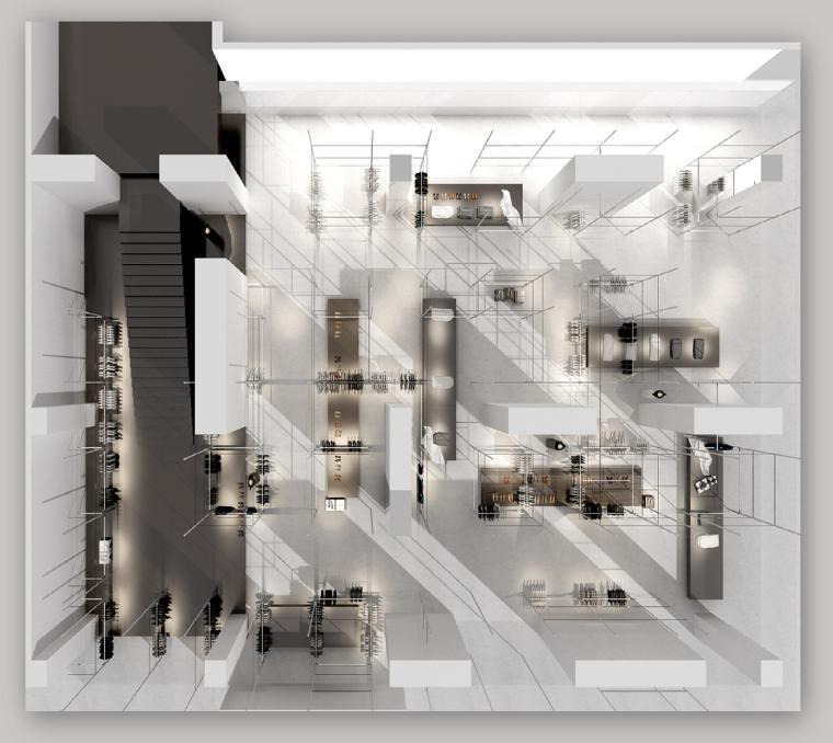 [成都]UR旗舰店设计方案+效果图+官方摄影
