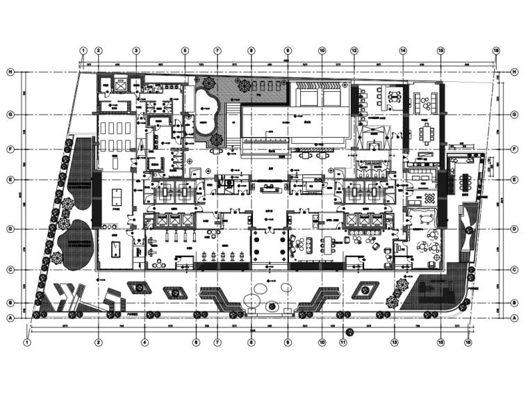 澳门商业街会所_2600㎡_全套CAD施工图