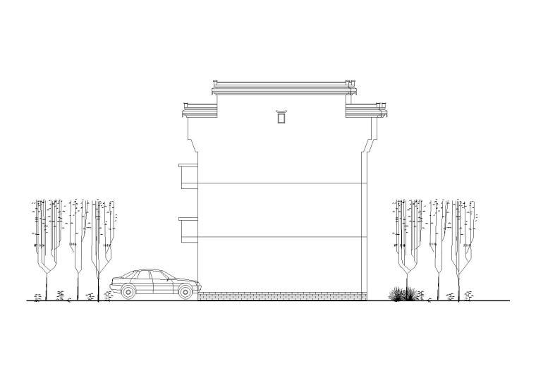 徽派风格别墅方案设计图纸_CAD
