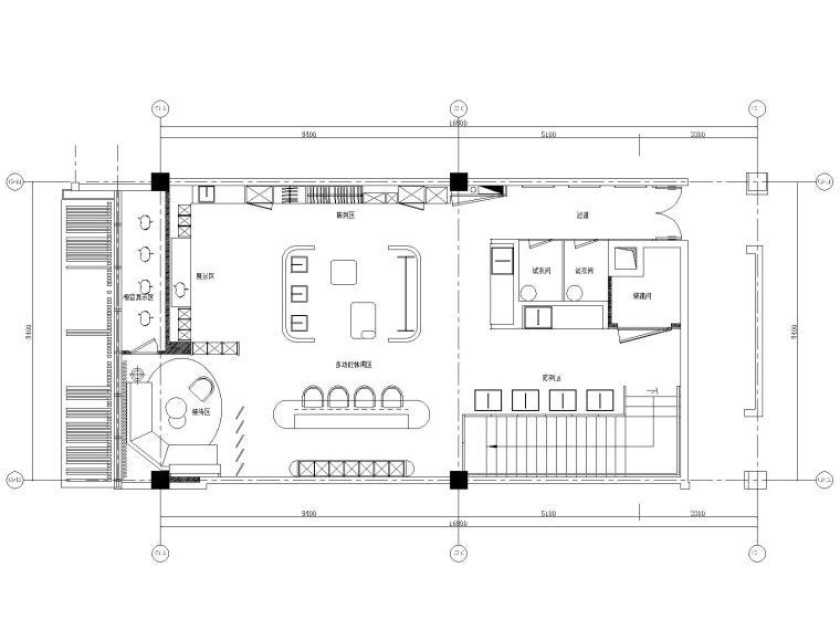 某高端定制西装店精细SU模型+全套施工图