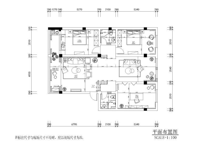 现代轻奢二居室住宅施工图+实景+3D模型