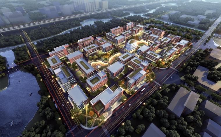 產業園-規劃-御橋總部園區建筑模型設計