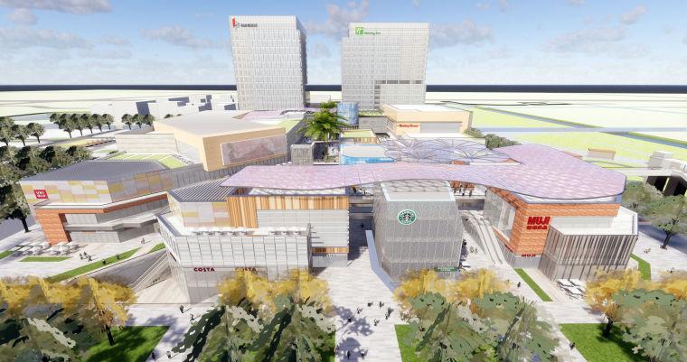 上海陆家嘴地产御桥软件园建筑模型设计