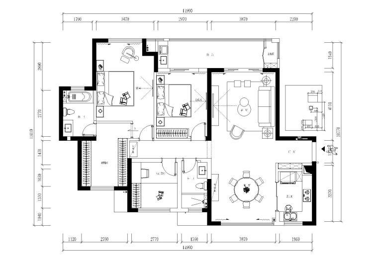 [江苏]常州星河国际八区住宅施工图-效果图