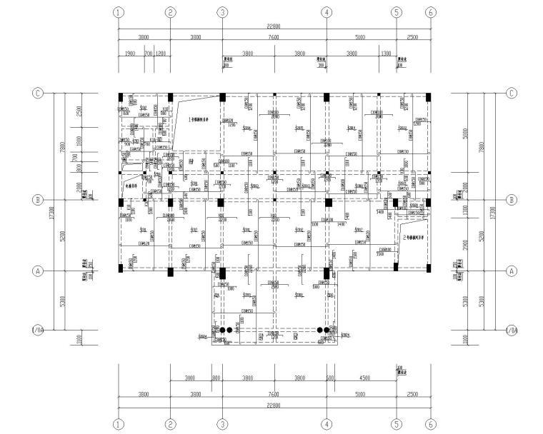 某八层混凝土办公楼结构施工图(CAD)