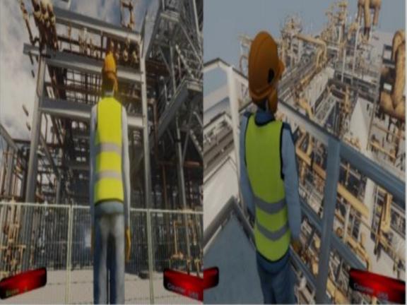 建筑施工风险识别教学游戏示意图