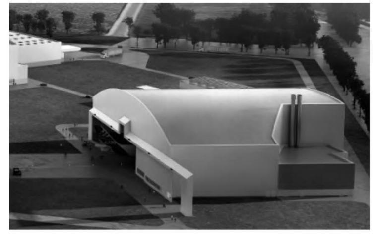 采用拱形刚架的大跨度喷漆机库结构设计
