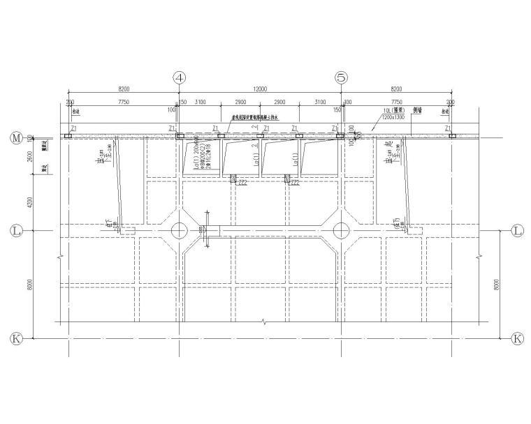 高层建筑加建钢结构电梯结构施工图(CAD)