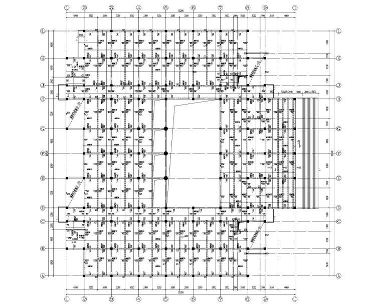 某大学六层混凝土图书馆结构施工图(CAD)