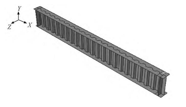 波纹腹板多钢种混用悬臂梁整体稳定性能研究