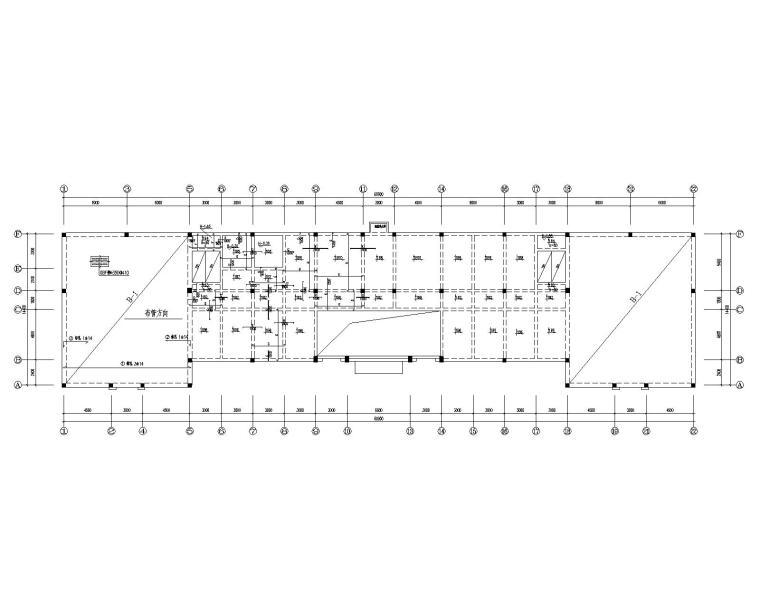 某三层办公楼混凝土结构施工图(CAD)