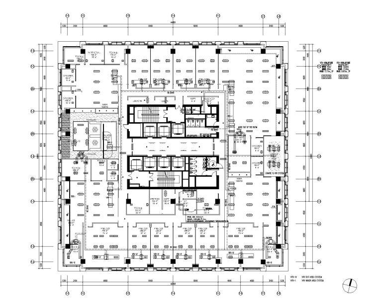 北京某办公楼精装修暖通施工图(四星)