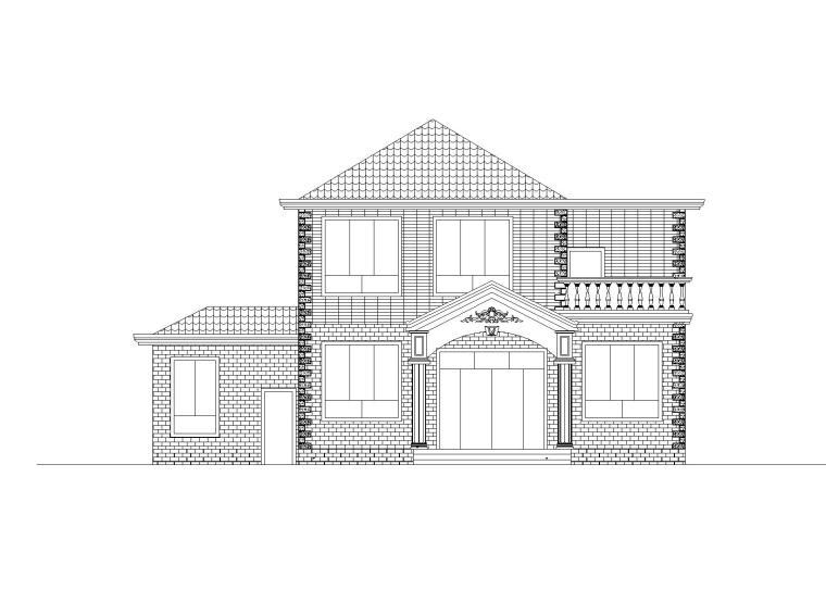 两层独栋别墅全套施工图(建筑结构水电图)