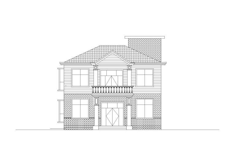 砖混结构独栋别墅建筑施工图(含结构水电图)